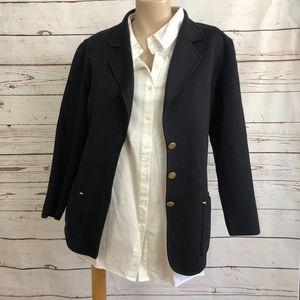 Escada Navy Wool Blend Blazer | Size
